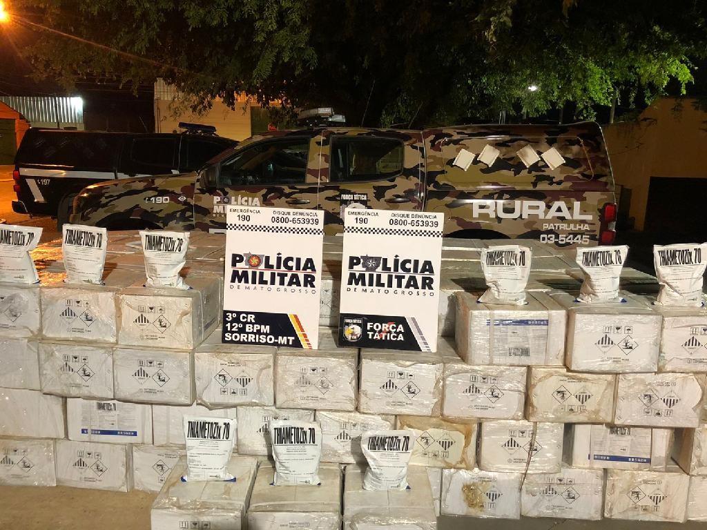 Dois mil pacotes de defensivos agrícolas contrabandeados da Bolívia foram apreendidos