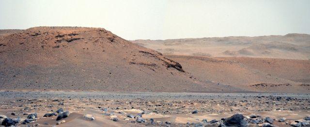 O veículo Perseverance pousou alguns quilômetros a sudeste da formação do grande delta.