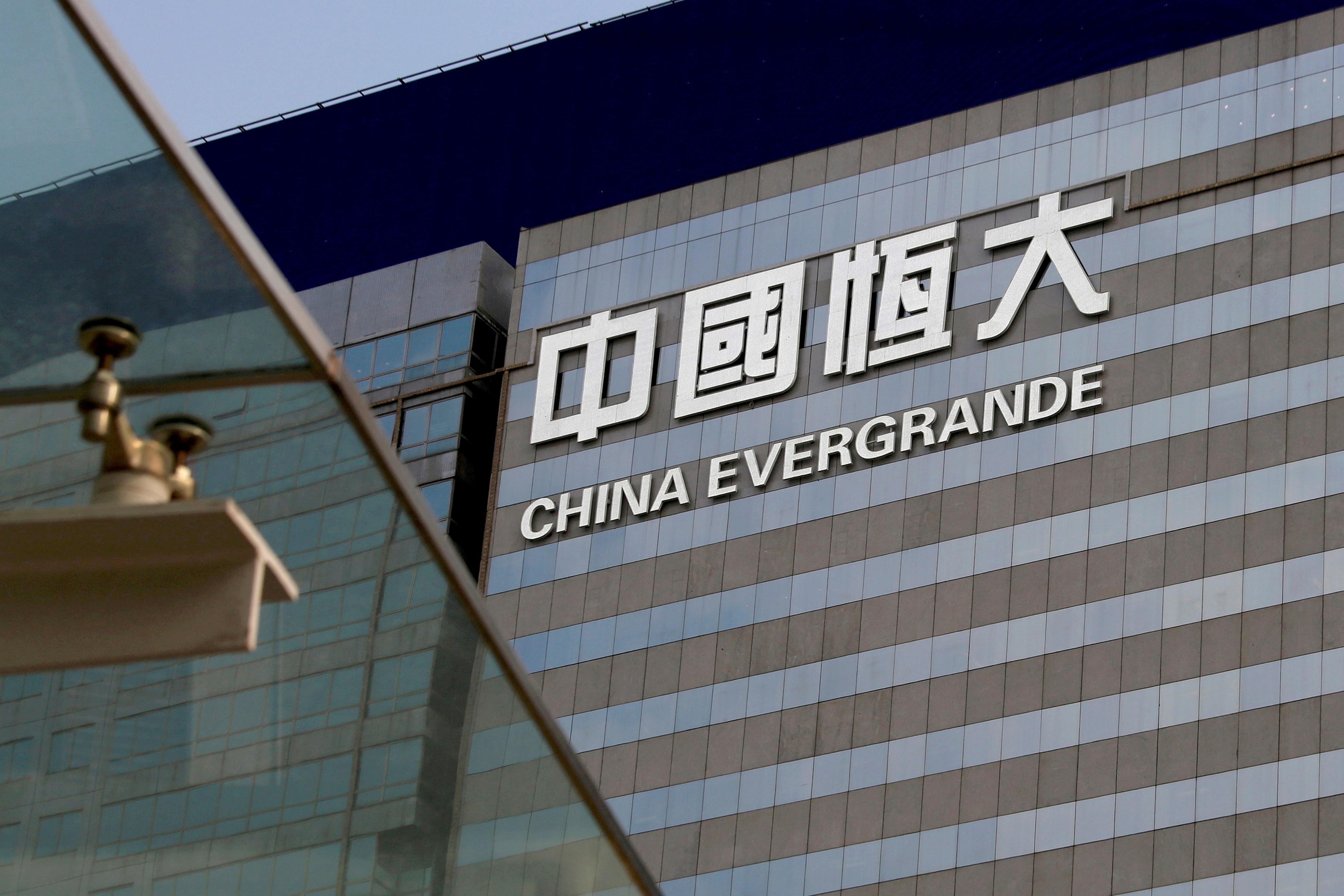 Prédio da incorporadora Evergrande no centro de Hong Kong, em imagem de arquivo